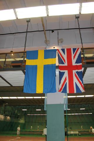 Sverige mot England i Salkhallen.