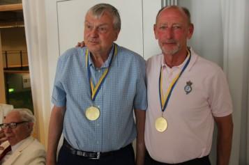 Och så klart fick Arne och Rick medaljer av största stoleken. Första gången denna storlek delades ut.