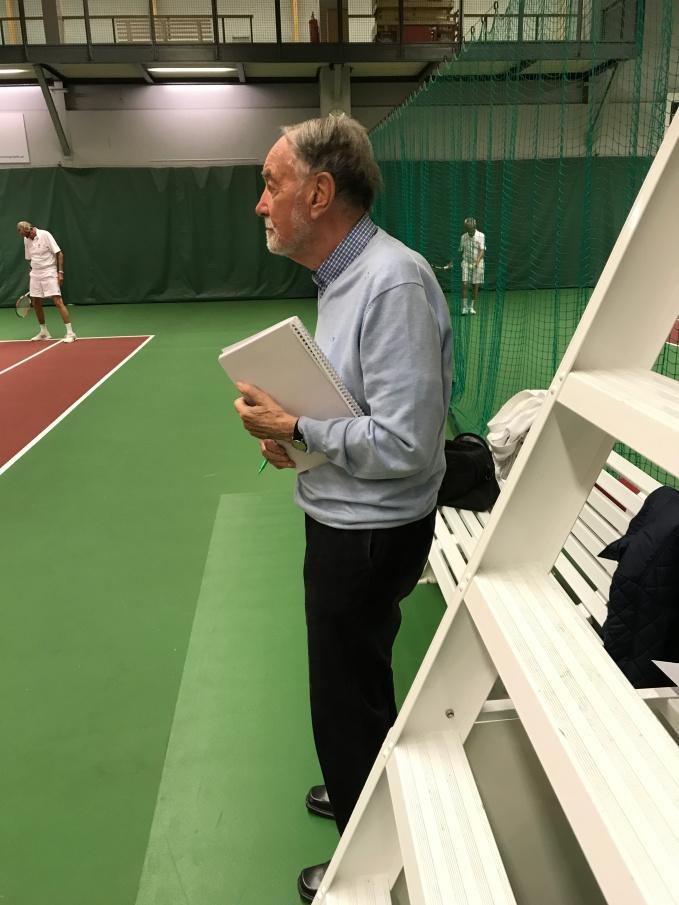 Fighting face på vår Tournament Director. Nu gäller det.